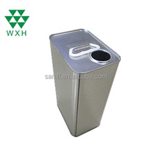 4L metal edible cooking oil tin cans with square shape and lid