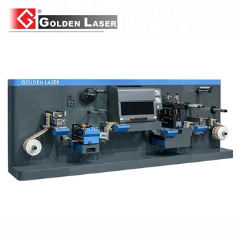 Single / Double Side Adhesive Tapes Roll to Roll Laser Die Cutting Machine