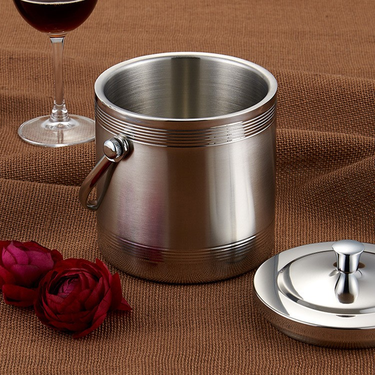 Stainless Steel 201champagne ice bucket double wall ice bucket