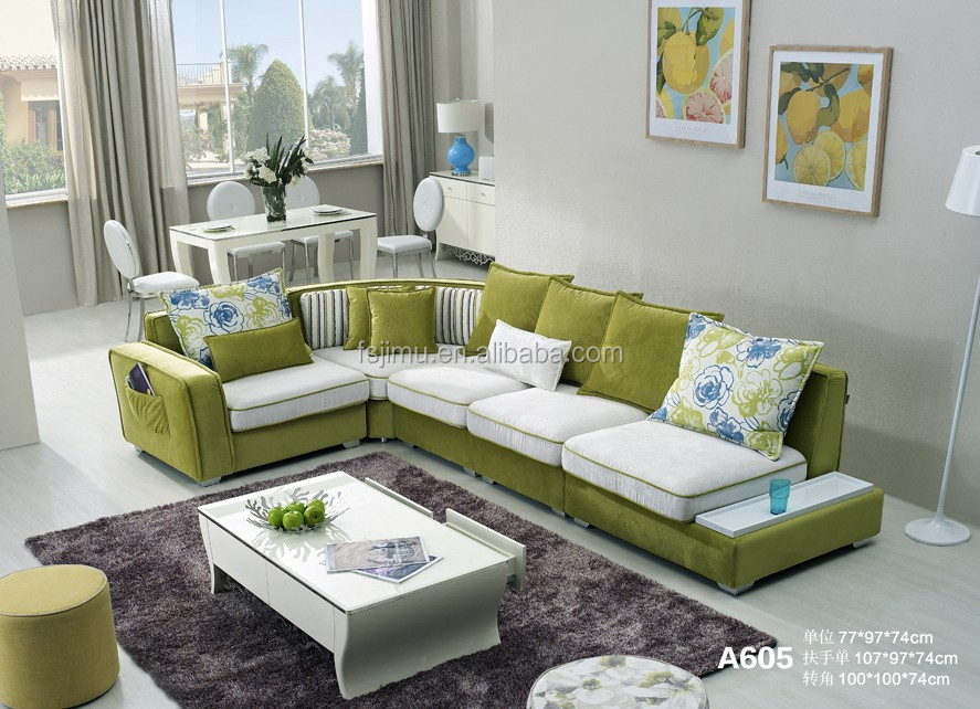 Modern fabric sectional sofa furniture set designs for living room furniture