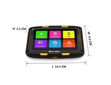 "5"" Android MOTO GPS Navigation Waterproof IPX7 GPS with Bluetooth 4.0"