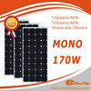 hight mono 170w solar module for solar system non thin film solar panel