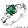 High Quality Green Spinel Jewelry Mother Love Heart Ring For Ladies DR030872R