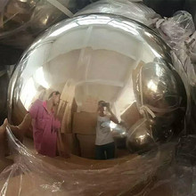 "36"" high polished giant hollow stainless steel mirror ball"