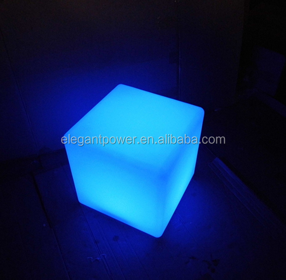 new style color changing waterproof led cube seat lighting/led light cube for pool/bar/garden/home