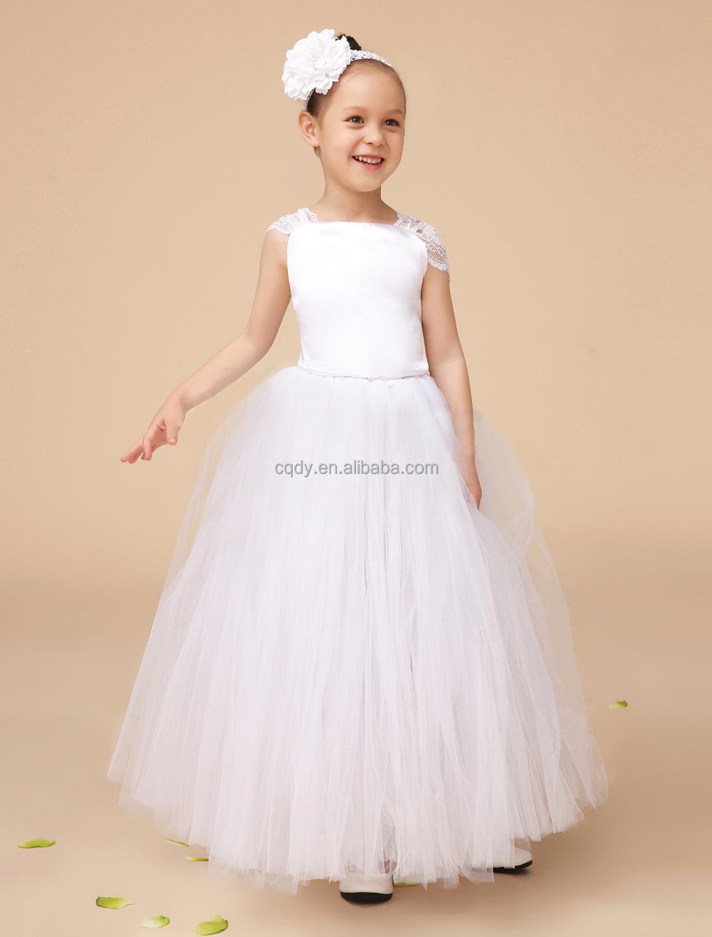 Lovely Lace Princess Tutu Dress Baby Girls Party Dresses Flower