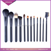 in store 12 pcs makeup brush set cylinder case brush in stock nylon cosmetic tool makeup brush cup holder