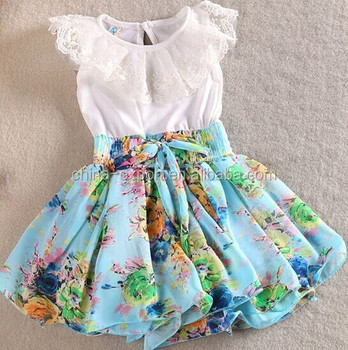 1509 2015 wholesale south Korea fashion summer new pattern cotton chiffon sleeveless lace sweet princess girl prom dress