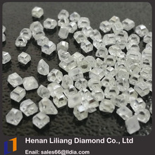Largest base Henan Zhengzhou certified loose uncut gemstone VVS colorless diamond factory wholesale white rough sapphire