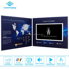 "Top Quality 8"" x 11"" 7 inch Lcd Screen Video Brochure Stand Up Brochure Card with Video Screen"