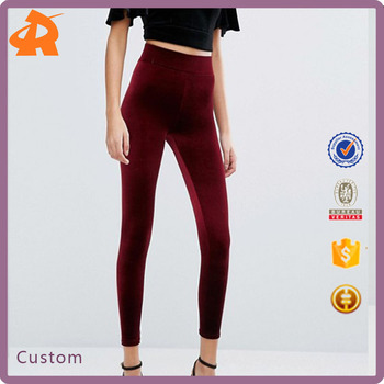 China wholesale 2017 New Fashion Velvet Highwaist Legging
