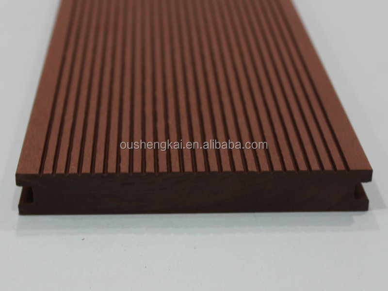 Vinyl wood plastic composite outdoor decking