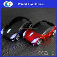 Computer Hardware Wired Optical Car Shape