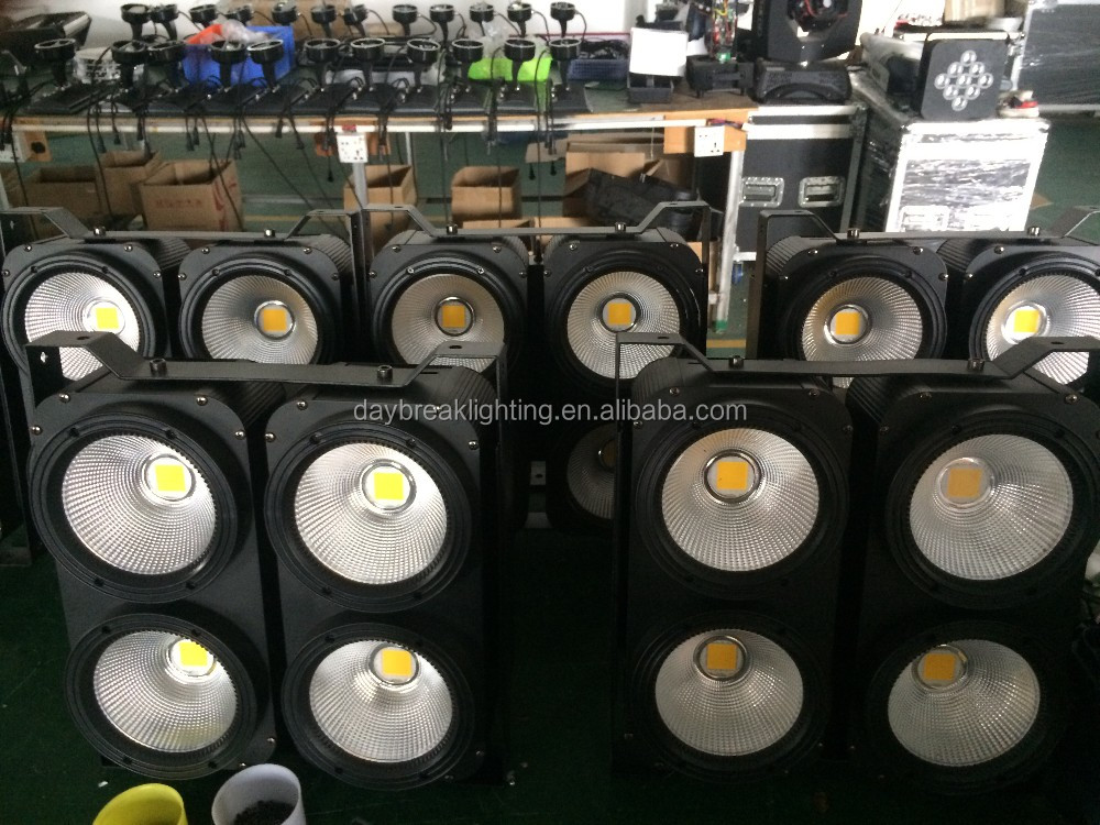 4 eyes led cob blinder light 4x100w led profile light spot cool white / warm white 3200k - 6500k