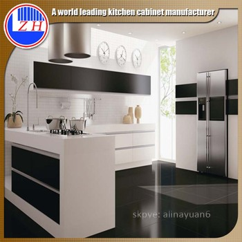 Australia project high glossy UV kitchen cabinet factory modern kitchen cabinet design