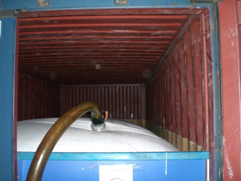 crude glycols storage flexitank in 20ft container