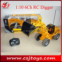 Sale 1:10 6ch Remote Control digger engineer cars trucks RC model trucks