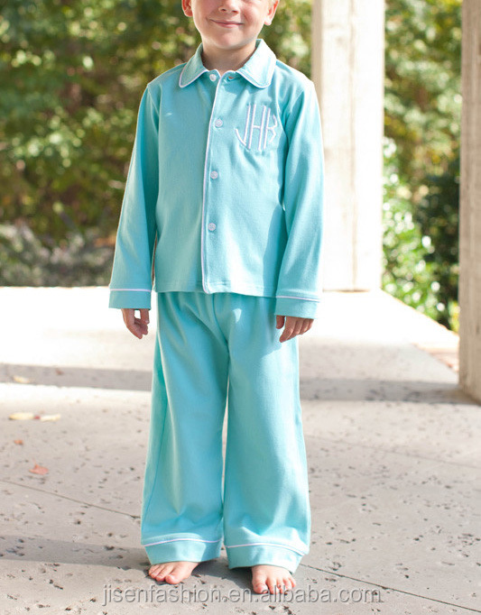 turquoise button down thanksgiving and christmas boy pajamas