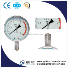 waterproof pressure gauge, bourdon tube pressure gauge, bourdon type pressure gauge