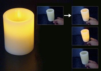 "Wave Sensor Flameless Wax Candle 3""x4"""