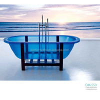 DOMO blue color acrylic transparent bath tub