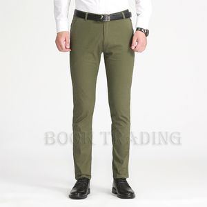 High waist men's Anti Wrinkle suit trousers business casual pants