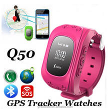 New Anti Lost GSM Smart Mobile Phone App Bracelet HQ Mini GPS Tracker Watch For Kids SOS Emergency Wristband Alarm Q50