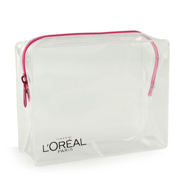 fashion promotional clear pvc makeup pouch travel cosmetic bags cases