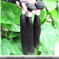 FMT excellent quality double drawn 6A natural Chinese Straight weft expression hair extensions