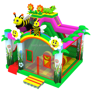 Small bee and flower inflatable jumping bouncer for toddlers