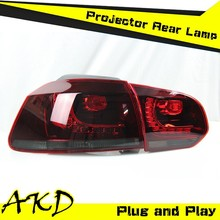 AKD Car Styling VW GOLF 6 LED Tail Light 2012 GOLF6 Tail Lights Volks Wagen Rear Trunk Lamp DRL+Turn Signal+Reverse+Brake