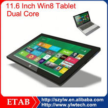 11.6 inch Ivy bridge 1037 dual core cheap windows 7 tablet pc