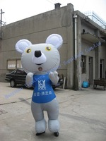 2.5M blue bear outdoor advertising promotional inflatable cartoon