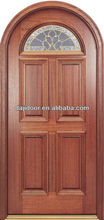 6 Panel Arch Top Wooden Doors Glass Inserts DJ-S5520MR
