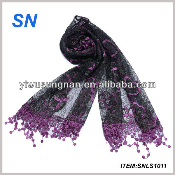 new design embroidery scarf