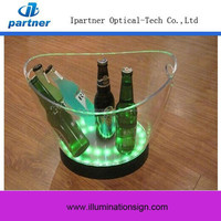 Top Selling Clear Plastic Led Ice Bucket Lighting, Wholesale Beer Ice Bucket