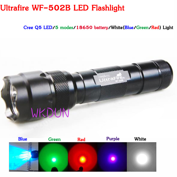 Ultrafire WF-502R Cree Q5 LED Red Light Hunting LED Flashligt