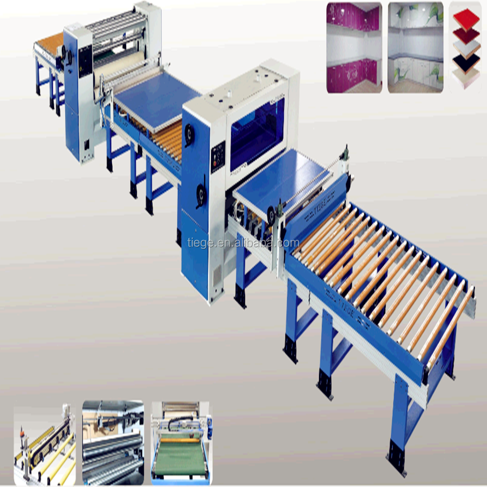 MDF board laminating Machine