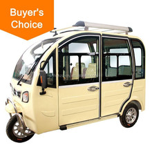 2016 new luxury model e tuktuk 1000W 60V battery powered E Rickshaw made in China