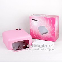 professional YF-727 nail dryer 36w gel curing nail art uv lamp gel nail 110/220v with removable base & CE and Rohs certification