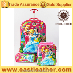 SB036 school trolley bags for kids new design 5D beautiful student bags