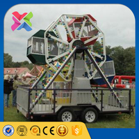 [Lixin Ride] Outdoor playing games kiddie ride mobile ferris wheel for sale