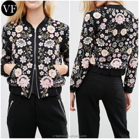 China Factory Custom Embroidered Satin Bomber