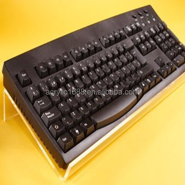 Customized wholesale clear acrylic keyboard stand