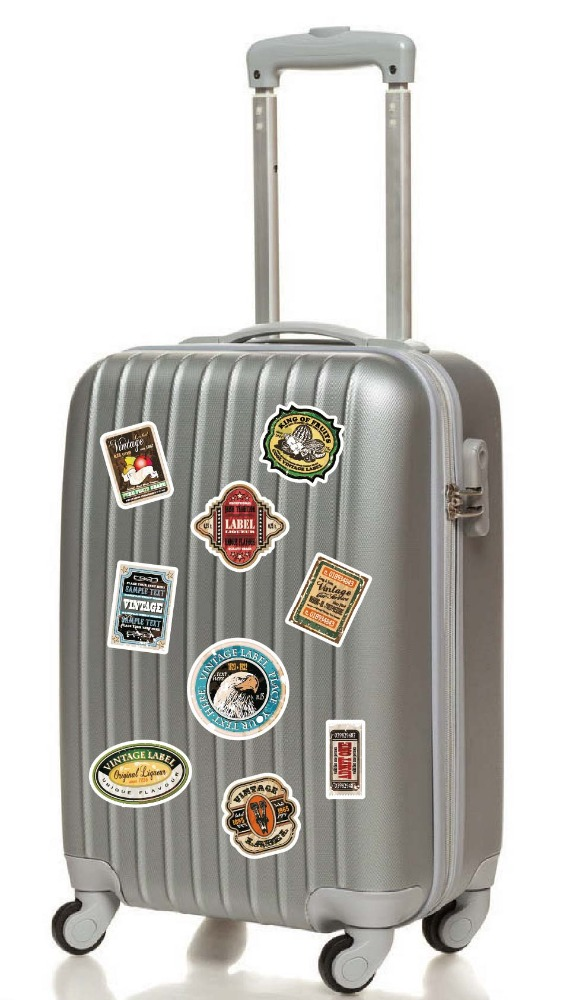 DIY Removable PVC Self Adhesive Luggage Sticker