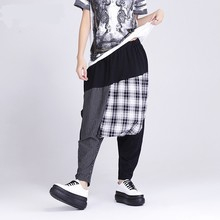 Wholesale Patch Trousers Women Plaid Pajama Formal Harem Pants