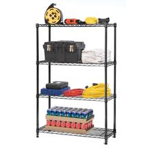 Storage Shelving Rack Powder Black Wire <strong>Shelves</strong> Four Tier Epoxy Paint Surface treatment