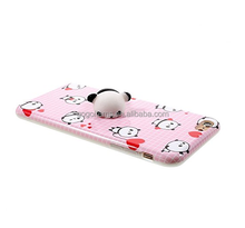 TPU lovely 3D animal anti gravity waterproof mobile panda squishy phone case for iphone 7 plus