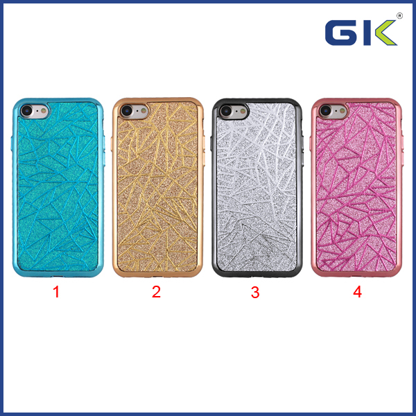 [GGIT] Hot Selling Electroplating Button Skin TPU Cell Phone Case For IPhone 7 Celulares Cover