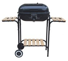 helmet shaped bbq grill with chimney starter
